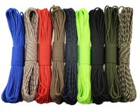 Rope Bags and Accessories specs wholesale - set of Rainbow Color Popular Type III Strand Parachute Paracord Cord Lanyard Mil Spec Core FT