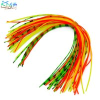 Wholesale Beard Fishing Lure - 16 Bundles 720Pcs 13cm Length Fly Tying Rubber Threads Skirts Silicone Straps For Flies Lures Beard Wire Fishing Tackle Peche