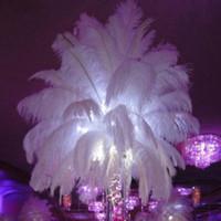 plumas de las fuentes del partido al por mayor-Pluma de plumas de avestruz negro para el centro de mesa de boda pluma de Navidad boda hogar festivo decoración de mesa de fiesta de suministro DHL