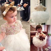 Wholesale Baby Girl S Pageant Dress - children s clothing Wedding Princess Dress Toddler Baby Girls Kids Princess Pageant Party Dress Irregular princess dress Veil girls