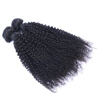 Wholesale 14 curly remy hair weave for sale - Indian Virgin Human Hair Kinky Curly Unprocessed Remy Hair Weaves Double Wefts g Bundle bundle Can be Dyed Bleached