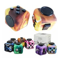 Wholesale LED Fidget cube With Decompression Toy Fidget cubes the world s first American decompression anxiety Toys fidget cube Light In Stock