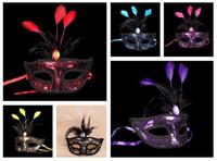 ordem laço de plástico venda por atacado-Alta qualidade Make-up Ballad Lace Carnaval Chapeamento De Penas Chapeamento Máscara De Plástico Decoração de Natal PH008 misturar a ordem como suas necessidades