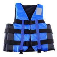 Wholesale Wholesale Men S Vests - Wholesale- New Polyester Adult Life Vest Jacket Universal Swimming Boating Ski Drifting Foam S-XXL Sizes