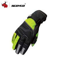 Wholesale Reflective Winter Gloves - Wholesale- SCOYCO Ski Snowboard Touch Screen Gloves Luva Motorcycle Reflective Riding Gloves Winter Waterproof Windproof Thermal Guantes