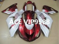 Wholesale zx14 fairings - 3 gifts Motorcycle Fairing kit for KAWASAKI Ninja ZX14R 06 07 08 09 ZX14R 06-09 Motorcycle Fairings set White Red A32
