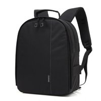 Wholesale Free Travel Photos - Fashion Digital DSLR Camera Photo Shoulders Padded Backpack with Rain Cover Travel Camera Video Case For Nikon Canon DHL free