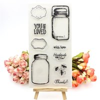 Wholesale Lovely Photo Albums - Wholesale- Lovely Bottle Transparent Clear Silicone Stamp Seal for DIY scrapbooking photo album Decorative clear stamp sheets