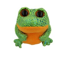 Wholesale Big Eyed Stuffed Animals - Wholesale-TY Beanie Boos Cute Slick Fox Plush Toys 6'' 15cm Frog Ty Plush Animals Big Eyes Eyed Stuffed Animal Soft Toys for Kids Gifts