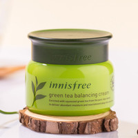 Wholesale Tea Free Oil - Korean Brand Innisfree Green Tea Balancing Cream Moisturizing Face Care Skin Care Cream Lotion 50ml free shipping