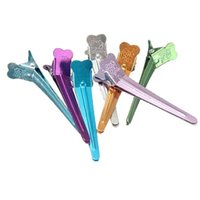 Wholesale hairdressing professional section clips tools for sale - Pack Barrettes Aluminum Professional Hairdressing Salon Section Polychrome Hair Grip Clips Styling Tools