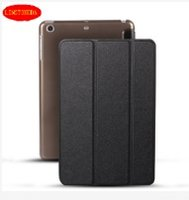 Wholesale Ipad Air Tri Fold Cover - Color Ultra Slim PU Leather Cover Transparent Back Case for iPad mini 2 3 4 For ipad air 1 2 Tri-fold smart cover LINGTONGDA PAD