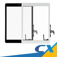 Wholesale Display Touch Ipad - High AAAA Quality Original Display For IPad 5 Touch Screen Home Button+Adhesive Replacement Front Glass For Ipad Air Part Assembly Free DHL