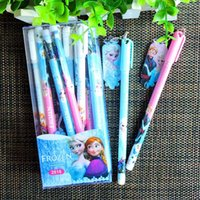 Wholesale Gifts Princess Pen Kids - Wholesale- 12PCS Kids birthday party supply gift baby shower party favors princess Anna Elsa gel pen with charms souvenirs