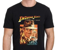 Wholesale Army Posters - Tee Shirts Hipster Crew Neck Graphic Indiana Jones And The Temple Of Doom Vintage Movie Poster Short Sleeve T Shirts For Men