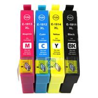 Wholesale Ink Cartridges For Epson - Compatible for epson T1811 T1812 T1813 T1814 ink cartridge for epson xp-212 XP-215 XP-312 XP-315 XP-412 XP-415