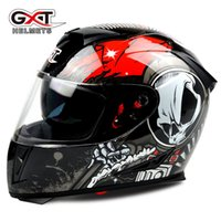 Wholesale Abs Car Sales - Hot sale GXT 358 anti-fog dual lens helmet full face motorcycle helmet cascos para moto electric car Safety moto helmets DOT