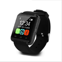 bluetooth smartwatch для android ios оптовых-SmartWatch U8 Bluetooth U8 Smart Watch для IOS IPhone IPhone 4 / 5S / 6 Samsung S4 / Note 3 HTC Android / Windows / Ios телефон Смарт