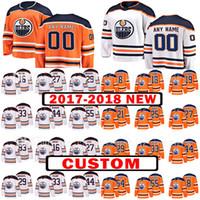 Wholesale Nurse Xl - Custom 2018 Edmonton Oilers 33 Cam Talbot 21 Andrew Ference Jersey 54 Jujhar Khaira 55 Mark Letestu 44 Zack Kassian 25 Darnell Nurse Jerseys