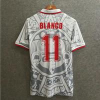 Soccer Men Short Classic 1998 mexico away retro soccer jerseys custom name  number BLANCO 11 football 322dde2c9
