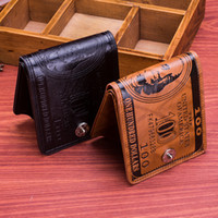 Wholesale Small Gift Cards Wholesale - Mens Designer Wallet Card Holders 100 Dollars Women Coin Purses Ladies PU Leather Small Gifts Bags Luxury Money Clip New