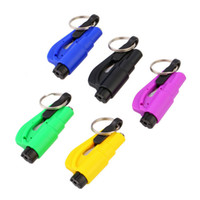 Wholesale Hammer Keychain - Keychain Car Emergency Rescue Safety Glass Breaker Hammer Escape Tool Popular New