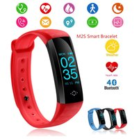 Wholesale M2S Sport Smartband OLED Blood Pressure Watch Blood Oxygen Heart Rate Monitor Smart Bracelet Weather Riding Running Mode Free By DHL