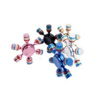 Big Kids sports gifts arms - Newest Trendy DIY Detachable EDC Hand Spinner Aluminium Alloy Six Arm Rudder Fidget Spinner Autism ADHD Anxiety Stress Relief Focus Toy Gift
