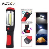 Wholesale Hook Magnet Led Flashlight - AloneFire C024 Portable mini LED Flashlight Work Light lamp with Magnet & Rotating Hanging Hook for Outdoors camping sport & home use