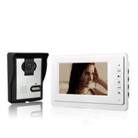 videoportero ir al aire libre al por mayor-Xinsilu 7 pulgadas TFT LCD Monitor color Video Door Door Intercom System IR Cámara exterior Doorphone V70F-L