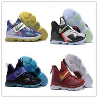 Wholesale Cheap Size 14 Basketball Shoes - 2017 Cheap New Arrival James 14s Rio Luminous Coast Men's Basketball Shoes Cheap Sale 14 XIV LBJ Elite Sports Training Sneakers Size 40-46