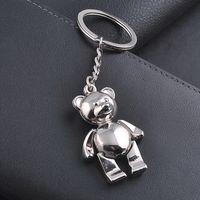 Wholesale Keyring Teddy Bears Wholesale - Women Bag Pendant, Creative Teddy Bear Metal Keychain Keyring, Alloy Bear Pendant Car Key Chains Ring Holder Accessory Gifts