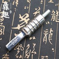 consejos de tatuaje magnum al por mayor-Nueva llegada 304 de acero inoxidable plana Magnum Tattoo Grip Professional Tattoo Grip Magnum Tip Back Stem Combo Supply TG2133
