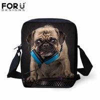 Wholesale Funny Bulldog - Wholesale- FORUDESIGNS Men Messenger Bags Casual Small Men's Travel Bag Funny Rock Band Dog Bulldog Fashion Crossbody Bag for Men Handbag