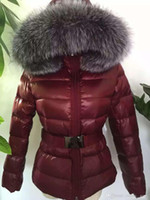 Wholesale Short Leather Jacket Hood - M43 1:1 Luxury Brand women jacket winter coat thickening Female Clothes real thick fox fur collar hood down jacket