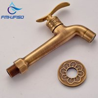 Wholesale Antique Brass Washing Machine Faucet Wall Mounted Mop Pool Faucet For Cold Water