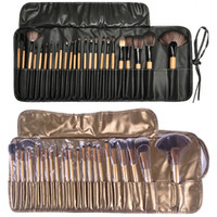 Wholesale Portable Lip Brush - Professional Makeup Brushes Set 32pcs 24pcs 18pcs Portable Full Cosmetic Make up Brushes Tool Foundation Eyeshadow Lip brush with Bag
