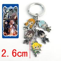 Wholesale Sword Art Online Key Chain - New 5Set Can pick Different Design Anime Cartoon Sword Art Online Fashion Style Keychains Metal Figures Pendants Key Chains