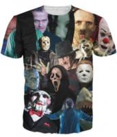 Wholesale Fashion Cinema - Horror Movie Newest Fashion Womens Mens Cinema Killers Funny Short Sleeves 3D Print T-shirt Summer Casual T-shirt S--5XL113