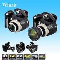 Wholesale Dslr Wide - Wholesale-Max 16MP 12MP Digital Camera 8x Digital Zoom Camcorder DC510T Cameras DSLR with Wide Angle Lens