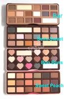 Wholesale Highlight Bar - Makeup Palette Chocolate Bar  Semi-Sweet Bon Bons Sweet Peach 16 Colors Chocolate Palette & Sweet Peach Glow Highlighting Palette