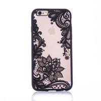 iphone dantel kılıfı toptan satış-Ücretsiz DL Kerzzil Dantel Çiçek Paisley Retro Çiçek Mandala Kına Temizle Vaka iphone 6 6 S 7 6 s 7 Artı 5 SE 5 s Telefon Karikatür Arka Kapak