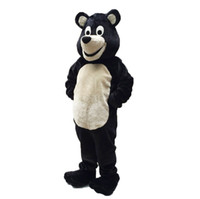 Wholesale Green Bear Costumes - Black bear mascot costume EMS free shipping, high quality carnival party Fancy plush lovely walking Black bear mascot adult size.