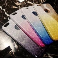 Wholesale Iphone Sparkle Skin - For iphone7 case Bling Glitter Fashion Luxury Sparkle Soft TPU IMD Case Silicon Gradient back Cover shell Skin for iphone 6S 7 Plus