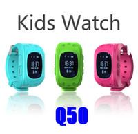 gps çit toptan satış-Q50 Akıllı İzle GPS Tracker çocuklar izle SOS Çocuklar Elektronik Çit İki Yönlü Iletişim Akıllı Telefon App Giyilebilir Cihazlar Bulucu OLED