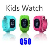 cerca de gps venda por atacado-Q50 smart watch gps crianças rastreador assistir sos crianças cerca eletrônica de comunicação de duas vias telefone inteligente app dispositivos wearable localizador oled