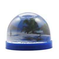 Brand New Hot Sale Atacado Plástico Líquido Foto Holder Snow Globes With Magnet Fabricante 72pcs / Carton Drop Shipping