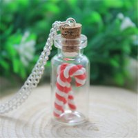 Wholesale Wholesale Fun Candy - 10PCS Christmas Candy Cane necklace - unique and fun Christmas gift
