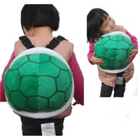 Wholesale Turtles Shells Wholesale - Cute plush turtle shell backpack kids casual bags 30x26cm Super Mairo Turtle Stuffed Toys Shoulder Bags