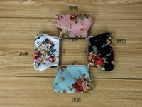Wholesale Cheapest Ladies Casual Shorts - Wholesale- Ladies Cheapest Canvas Classic Retro Small Change Coin Purse Little Key Car Pouch Money Bag,Girl's Mini Short Coin Holder Wallet